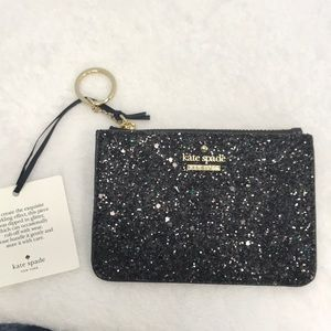 New Kate Spade Glitter Keychain with coin purse
